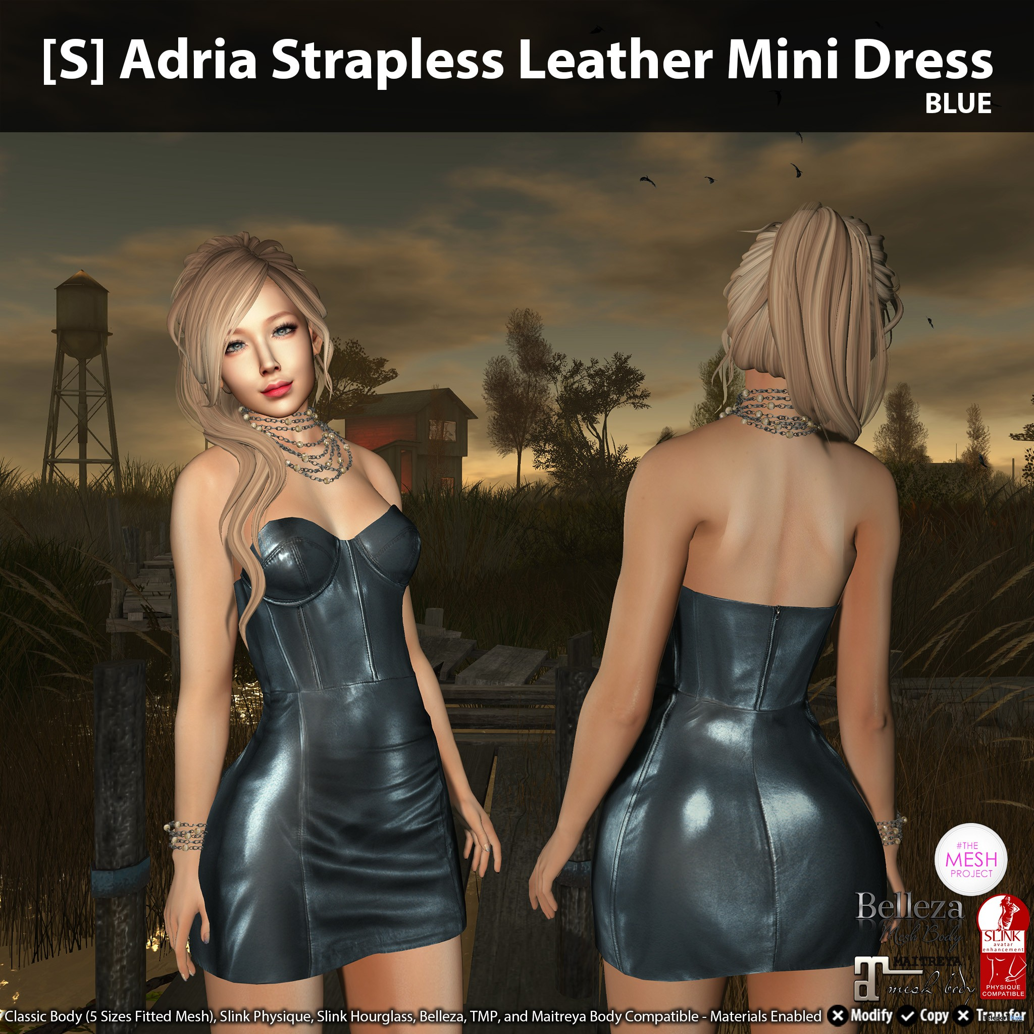 New Release: [S] Adria Strapless Leather Mini Dress by [satus Inc] - Teleport Hub - teleporthub.com
