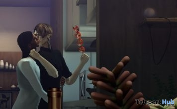 Dinner Preparation Couple Pose With Props L'HOMME Magazine Group Gift by titzuki - Teleport Hub - teleporthub.com