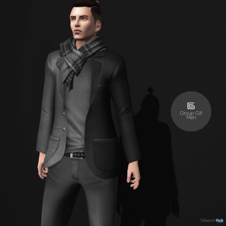 Gray & Black Suit February 2017 Group Gift by Gizza Creations - Teleport Hub - teleporthub.com