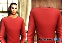 Mens Crew Neck Sweater Plain Red Group Gift by ADRIATIC Line - Teleport Hub - teleporthub.com