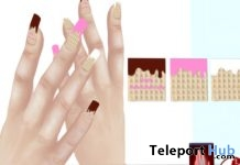 Happy Valentine Nails For Slink and Vista Bento Hands Gift by Prologue - Teleport Hub - teleporthub.com