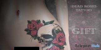 Dead Roses Hip Tattoo 1L Promo Gift by Maji - Teleport Hub - teleporthub.com