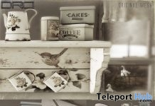 Rustic Kitchen Shelf Spring March 2017 Group Gift by DRD - Teleport Hub - teleporthub.com