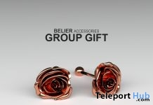 Rose Earrings March 2017 Group Gift by BELIER - Teleport Hub - teleporthub.com