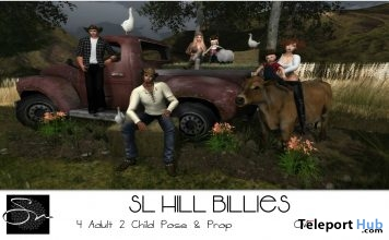 SL Hill Billies Group Pose Group Gift by Something New - Teleport Hub - teleporthub.com