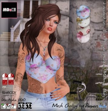Chrissy Flower Top Appliers Designer Circle Event Gift by MOoH! - Teleport Hub - teleporthub.com
