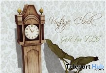 Vintage Clock The Liaison Collaborative Anniversary Gift by Belle Epoque - Teleport Hub - teleporthub.com