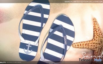 Sandy Flip Flops Sailor March 2017 Group Gift by DROPS - Teleport Hub - teleporthub.com