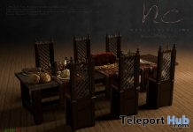 New Release: Antique Dining Table by Noble Creations - Teleport Hub - teleporthub.com