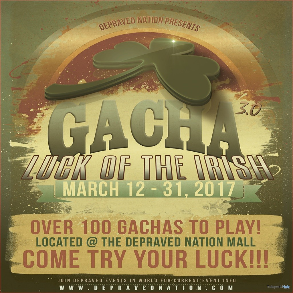 Eight Gifts At Luck of the Irish Gacha 2017 Event by Various Designers - Teleport Hub - teleporthub.com