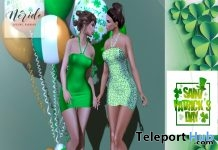 Chloe Dress St. Patrick's Day Subscriber Gift by Nerido - Teleport Hub - teleporthub.com