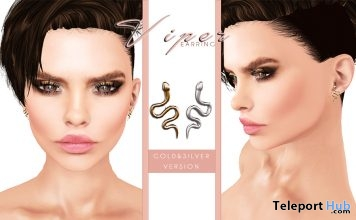 Viper Earrings Designer Circle Event Gift by SlackGirl - Teleport Hub - teleporthub.com