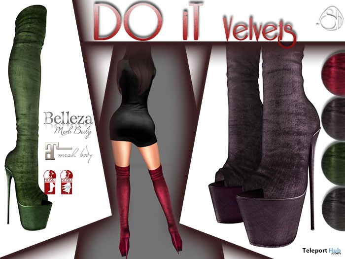 Do It Velvet Boots Fatpack 50L Promo by Sunny Hui! About GACHA! - Teleport Hub - teleporthub.com