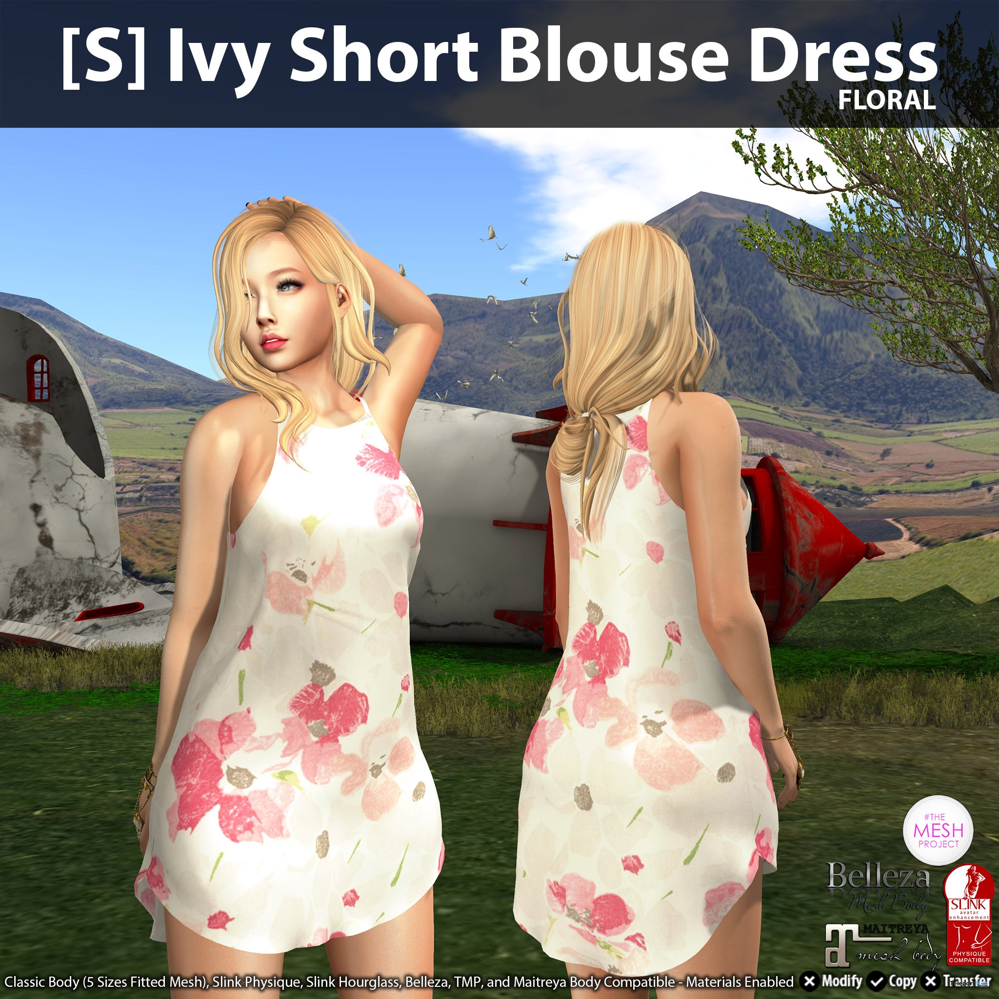New Release: [S] Ivy Short Blouse Dress by [satus Inc] - Teleport Hub - teleporthub.com