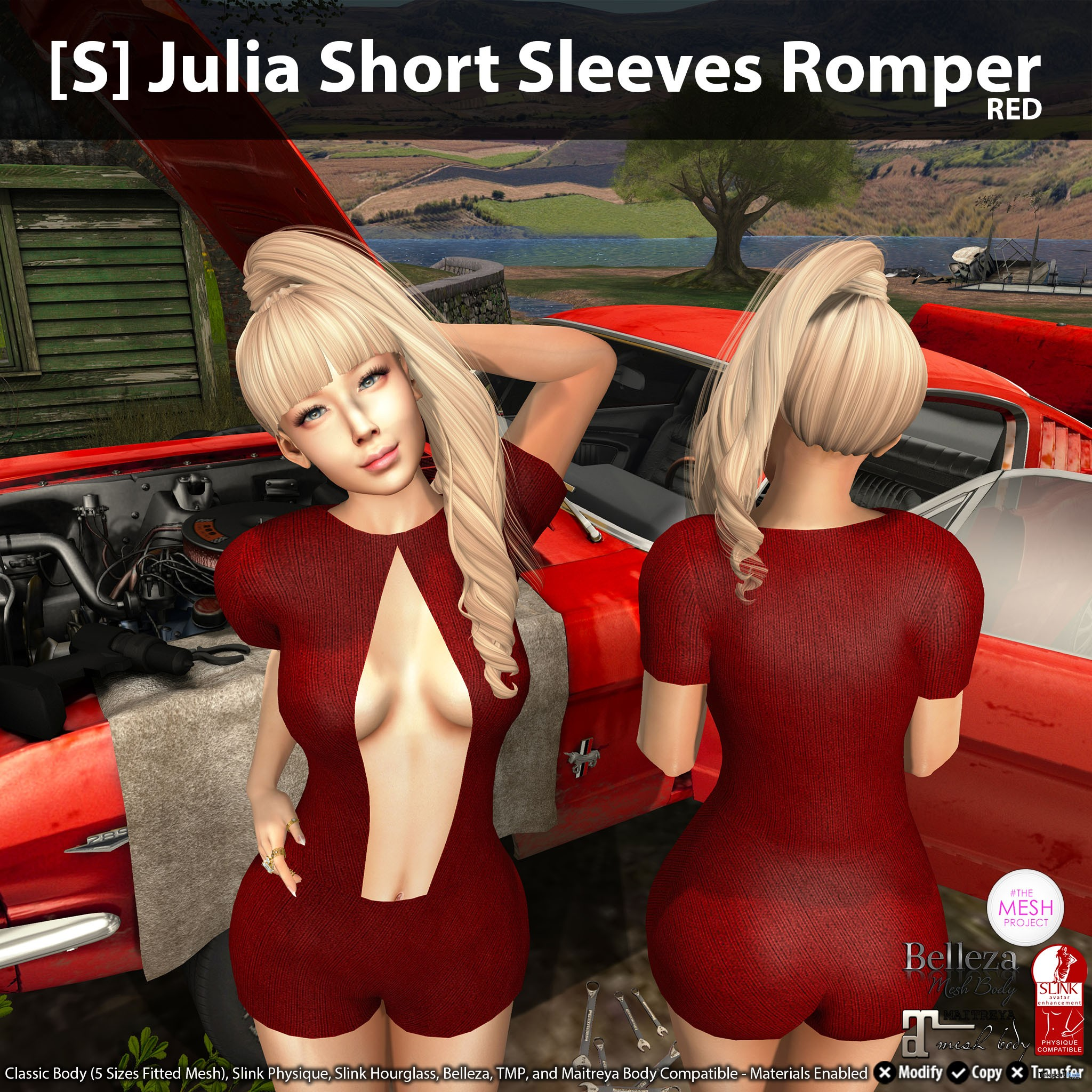 New Release: [S] Julia Short Sleeves Romper by [satus Inc] - Teleport Hub - teleporthub.com