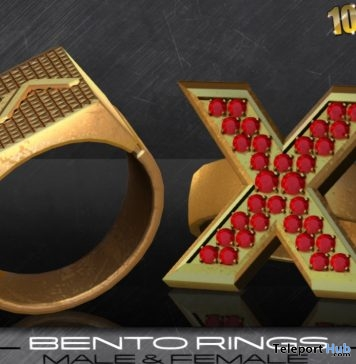 Bento Rings For Male & Female Gift by Vista Animatons - Teleport Hub - teleporthub.com
