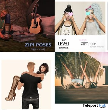 Several Gifts At 2nd Level Event March 2017 by Various Designers - Teleport Hub - teleporthub.com