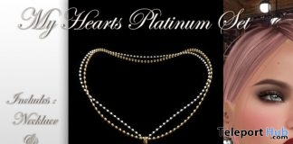 My Heart Platinum Jewelry Set Group Gift by HUDSON's Clothing Co - Teleport Hub - teleporthub.com