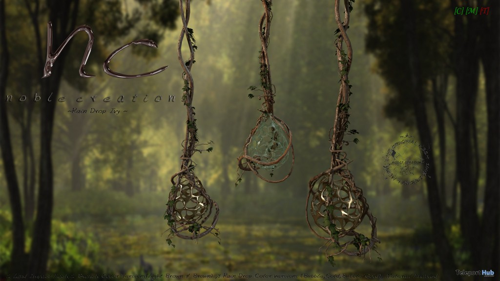 New Release: Rain Drop Ivy by Noble Creations - Teleport Hub - teleporthub.com