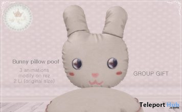 Bunny Pillow Poof Group Gift by Tiny Trinkets - Teleport Hub - teleporthub.com