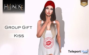 White Kiss Tank Top Group Gift by HYPNOSE - Teleport Hub - teleporthub.com