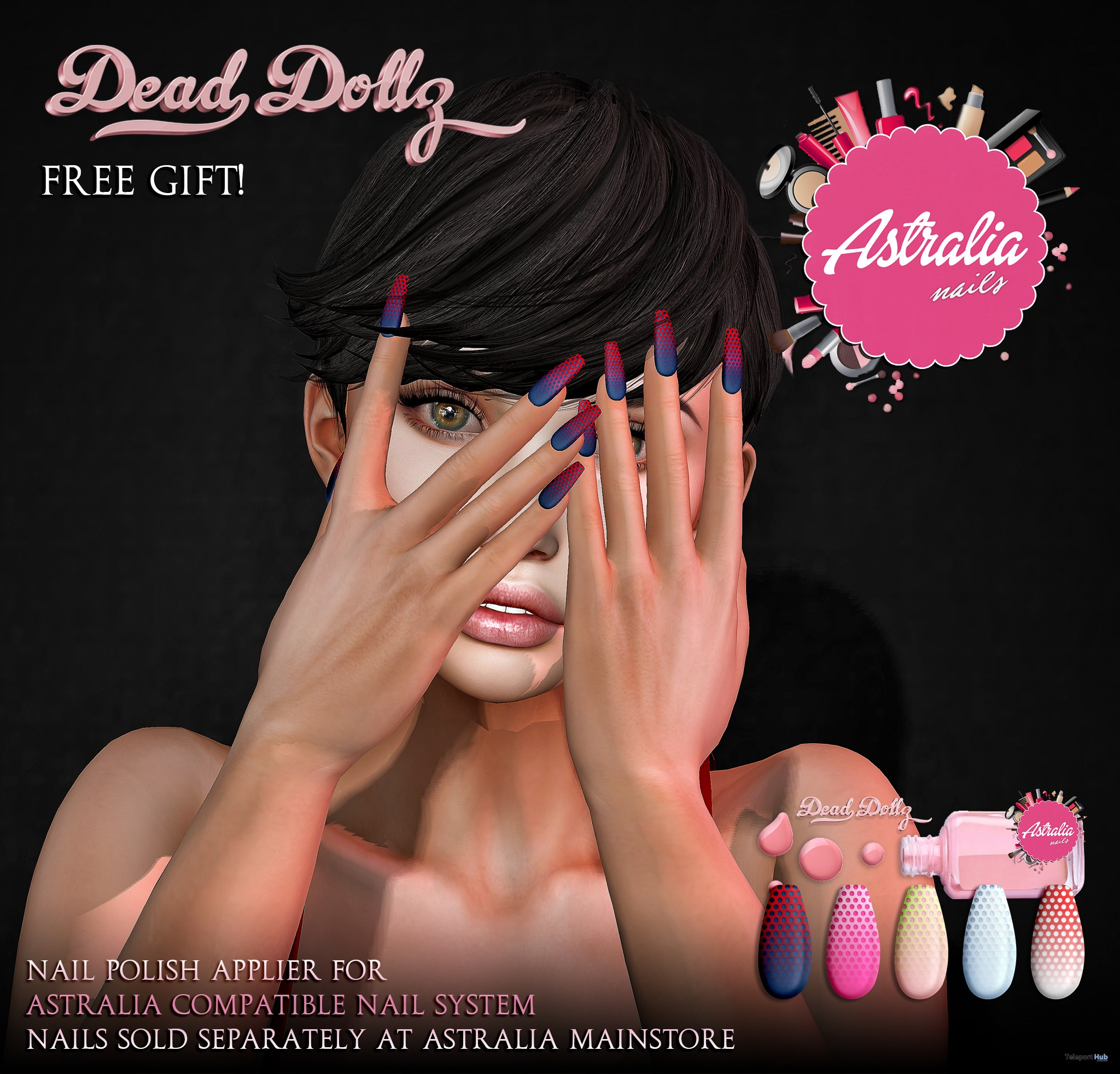 Smash Nail Polish Applier 1L Promo Gift by Dead Dollz - Teleport Hub - teleporthub.com