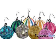 King Candy & Disco Ball Earrings 1L Promo Gift by Ano Xue - Teleport Hub - teleporthub.com