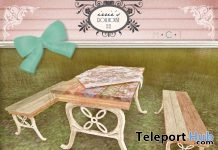 Spring Picnic Table Group Gift by irrie's Dollhouse - Teleport Hub - teleporthub.com