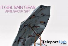 It Girl Rain Gear April 2017 Group Gift by Sevyn East - Teleport Hub - teleporthub.com