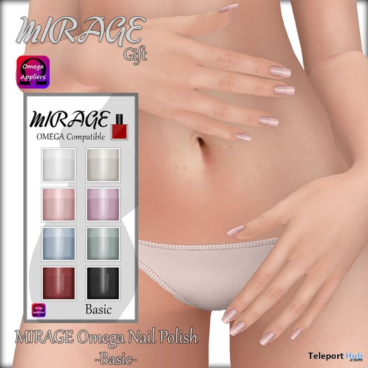 Nail Polish 8 Colors Omega Applier Gift by MIRAGE - Teleport Hub - teleporthub.com