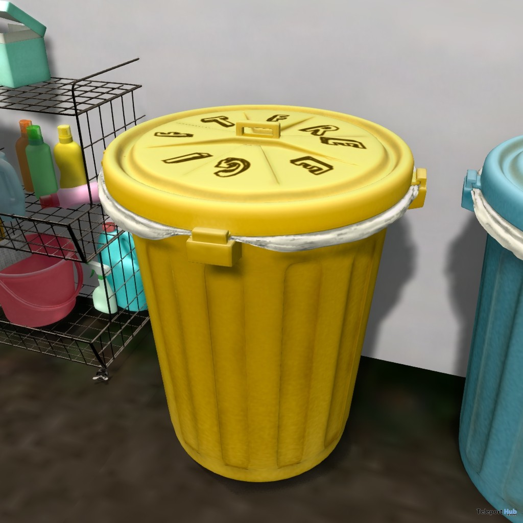 Yellow Trash Bin Gift by PLAAKA - Teleport Hub - teleporthub.com