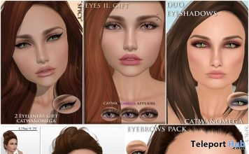 Several Makeup Catwa & Omega Appliers and Shape Group Gifts by Spicy - Teleport Hub - teleporthub.com