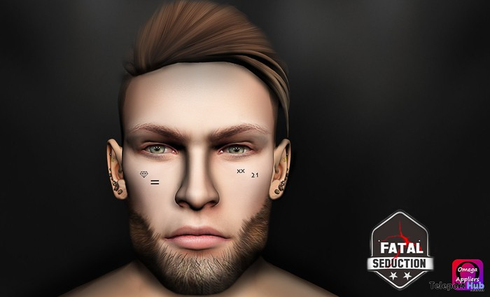 Twenty One Facial Tattoo With Omega Applier Gift by Fatal Seduction - Teleport Hub - teleporthub.com