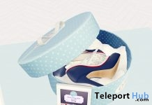Becky T-Strap Heels Blue Polka Group Gift by The Secret Store - Teleport Hub - teleporthub.com