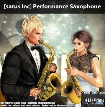 New Release: Performance Saxophone by [satus Inc] - Teleport Hub - teleporthub.com