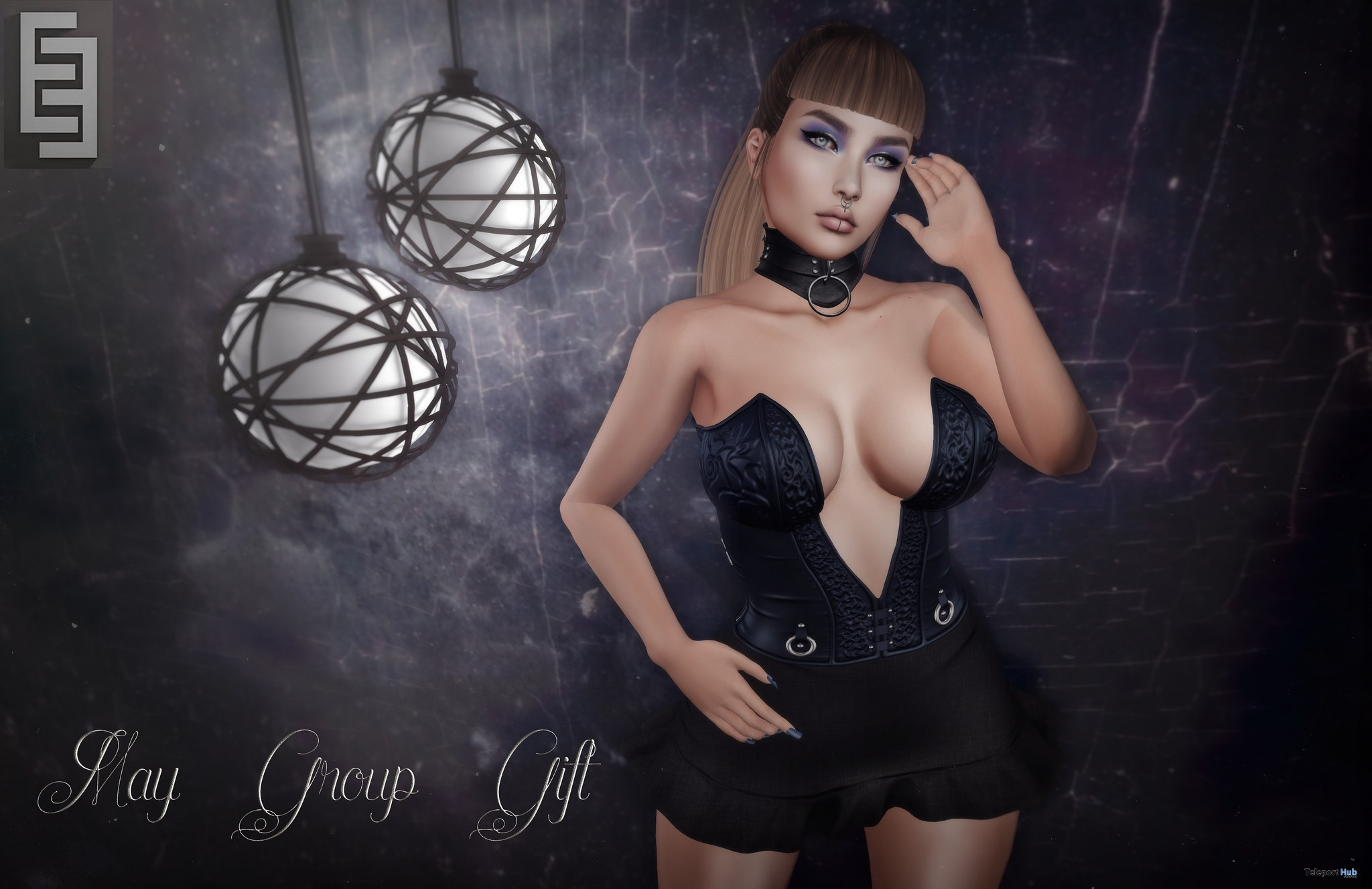 Skirt With Corset May 2017 Group Gift by Elven Elder - Teleport Hub - teleporthub.com