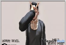 Horn Devil Male Pose Group Gift by Zen Creations - Teleport Hub - teleporthub.com