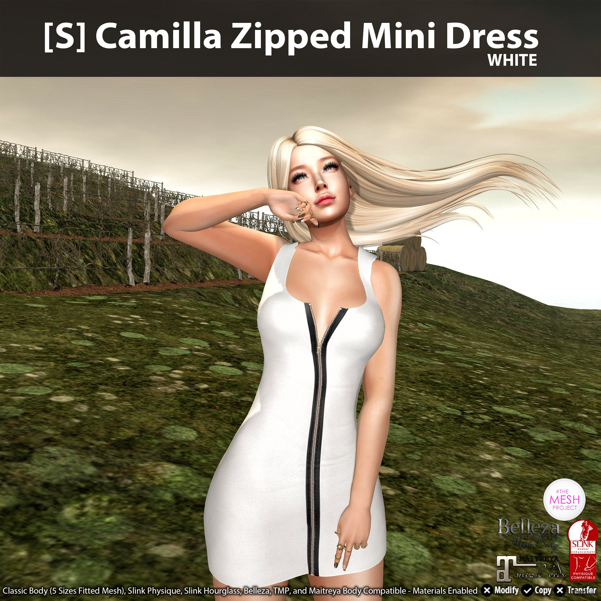 New Release: [S] Camilla Zipped Mini Dress by [satus Inc] - Teleport Hub - teleporthub.com