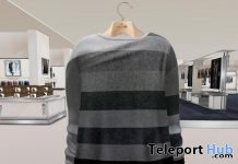 Stripes Sweater With HUD L'HOMME Magazine Group Gift by Gizza Creations - Teleport Hub - teleporthub.com
