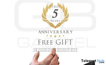 Leather Rolled Bracelet Black The Men Dept Event 5th Anniversary Gift by Gabriel - Teleport Hub - teleporthub.com