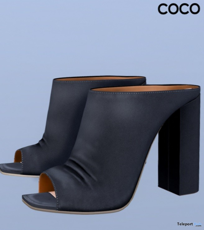 Open Toe Mules Dark Grey Group Gift by COCO Designs - Teleport Hub - teleporthub.com