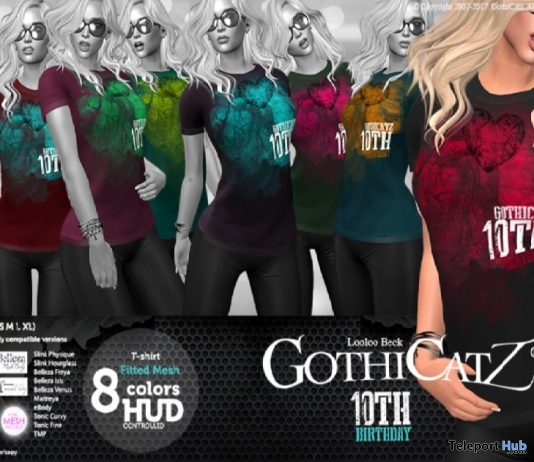 Fitted Tee 10th Anniversary Limited Time Gift by GothiCatz - Teleport Hub - teleporthub.com