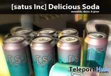 New Release: Delicious Soda by [satus Inc] - Teleport Hub - teleporthub.com