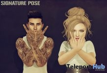 No F Given Poses For Men & Women Group Gift by Signature Pose - Teleport Hub - teleporthub.com