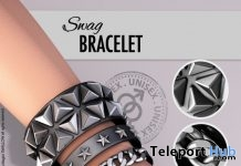 Swag Unisex Bracelet Black & Silver L'HOMME Magazine Group Gift by Swallow - Teleport Hub - teleporthub.com