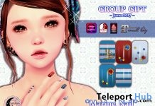 Marine Nail June 2017 Group Gift by petit chambre - Teleport Hub - teleporthub.com