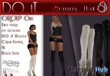 DO iT Thigh High Boots Black & White Group Gift by .Sh - Teleport Hub - teleporthub.com