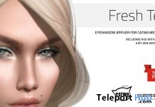 Fresh Teal Eyeshadow For Catwa Head Group Gift by Session Skins - Teleport Hub - teleporthub.com