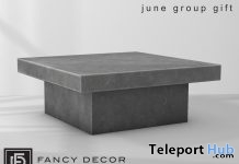 Minimal Concrete Table Group Gift by Fancy Decor - Teleport Hub - teleporthub.com