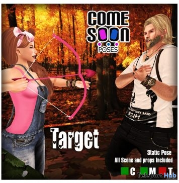 Target Couple Pose June 2017 Group Gift by Come Soon Poses - Teleport Hub - teleporthub.com